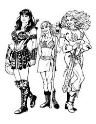 xena gabrielle and red sonja