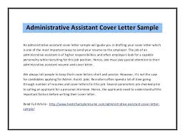 Cover Letter For Executive Administrative Assistant Job Sample