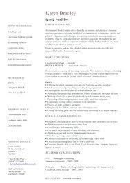 Entry Level Banking Resumes Resume Of Bank Teller Bank Teller Resume Template Bank Teller Resume