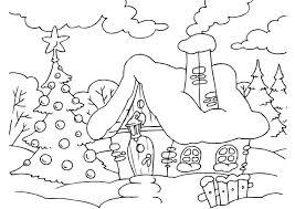 Disegni Da Colorare Giochi Natale Paesaggio Innevato Disegni Da