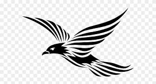 flying birds tattoo clipart. Plain Flying Raven Bird Clip Art  Flying Tribal Tattoo With Birds Clipart Y