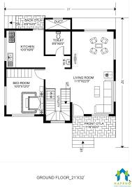 1 Bhk Layout Design 1 Bhk Floor Plan For 21 X 32 Feet Plot 672 Square Feet 3