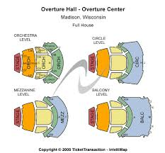 overture hall at overture center for the arts seating chart