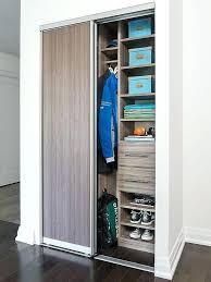 condo foyer closet with modular system transitional closet sliding door closet sliding closet door hardware