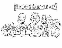 Kleurplaat Verjaardag Vrouw Kleuren Nu Kinderfeestje Met Taart