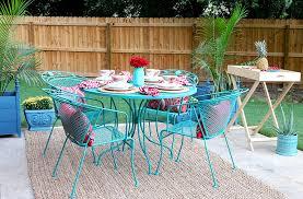 painting metal patio furniture