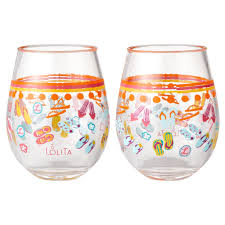 acrylic stemless wine glasses. Beautiful Glasses Flip Flops Too Acrylic Stemless Wine Glasses Set Of 2 17 Oz Throughout Glasses