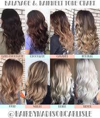 Hair Color Tone Chart Balayage Color