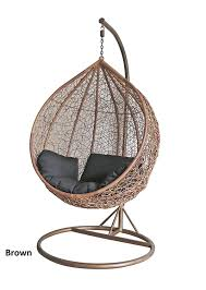 dirty pro toolstm brown colour rattan swing chair outdoor garden patio hanging wicker weave furniture co uk garden outdoors