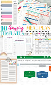 Meal Planning Spreadsheet Excel 10 Amazingly Useful Meal Planning Template You Should Have