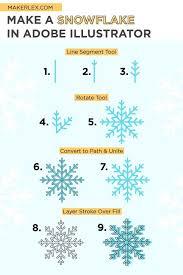 Adobe illustrator makes it easy to create custom dotted lines. Easy Adobe Illustrator Snowflake Tutorial For Beginners Learn Illustrator Free How To Make Snowflakes Learn Illustrator Photoshop Video Tutorials