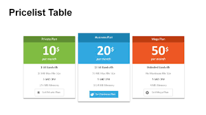 Pricing Table Templates Price Table Powerpoint Templates Powerslides