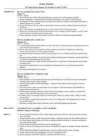 Retail Marketing Resume Retail Marketing Resume Samples Velvet Jobs 1
