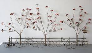 metal wall art trees vintage metal wall art hanging sculpture bicycles with gingko trees on ginkgo tree metal wall art with wall art designs metal wall art trees vintage metal wall art