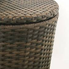 outdoor round side table with storage 1