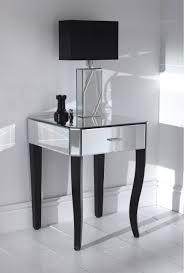 Small Side Tables For Bedroom Classy White Stained Wooden Nightstand With Gold Accent And Open