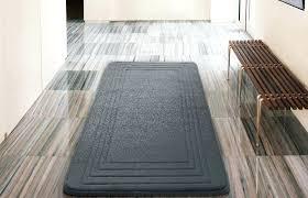 bathroom rugs 24 x 60 hotel bordered foam padding cushioned microfiber grey bath rug x cushioned