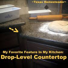 my favorite feature in my homestead kitchen is my drop level countertop it makes