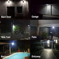 horzqueen aluminum outdoor wall light super bright 24 led solar light motion sensor security light for porch patio garden barn garage outdoor lighting