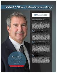 The company offers a broad range of specialty property and casualty insurance services and products to individual, corporate, and professional… Svp Of Surety Underwriting Mike Cifone Featured In Surety Bond Quarterly Hudson Insurance Group