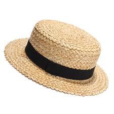 2017 New Summer Natural Straw Sun Hat For Women Men Fashion Beach Hats Ladies Flat Sunhat
