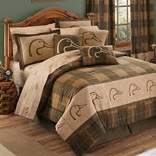 ducks unlimited plaid comforter set