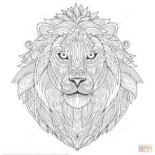 Small Picture Lion Zentangle coloring page Free Printable Coloring Pages