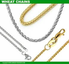 wheat chain link necklaces