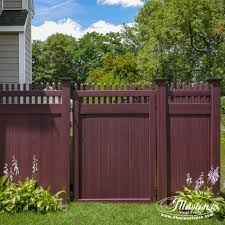Vinyl fencing Freedom Gorgeous Mahogany Illusions Pvc Vinyl Fence Images For Your Next Fence And Backyard Idea Stonehenge Fence 15 Fantastic Mahogany Illusions Pvc Vinyl Fence Images Illusions