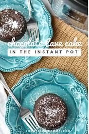 Instant Pot Chocolate Lava Cake Crystalandcompcom