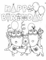 Minion Birthday Coloring Page Jarig Zijn Minion Verjaardag