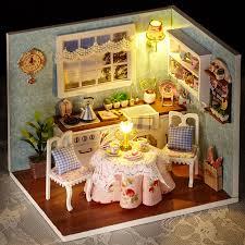 handmade dolls house furniture. Handmade Doll House Furniture Miniatura Diy Houses Miniature Dollhouse Wooden Toys For Children Grownups Birthday Gift Dolls U