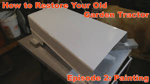how to re your vintage garden tractor episode 2 painting you