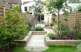 Lawn & Garden:Clean Japanese Garden With Natural Look Completed With Grass  And Planters Clean