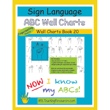 Wall Chart Book 20 Asl Abc Fingerspelling