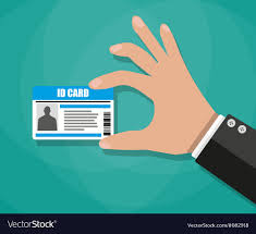 Vector Royalty Card Image Holding Id Free Businessman Hand