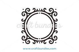 simple filigree frame svg cut file