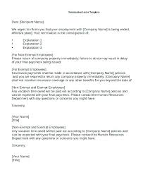 Letter Of Termination Of Employment – Resume Sample Collection