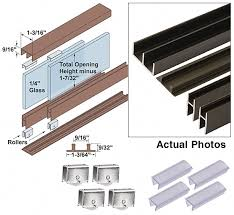 image for item 939 882 epco sliding glass door track assemblies all the hardware you need to add