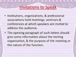 Speaker Templates Letter Of Invitation To Speak For Guest Speaker Sample