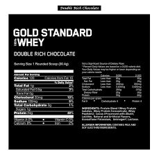 nutrition facts double rich chocolate