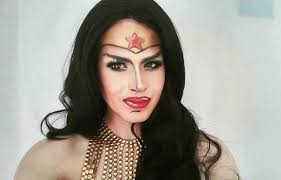 you have to watch this super cool wonder woman makeup transformation
