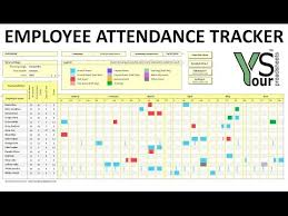 Attendance Tracker Spreadsheet Employee Attendance Tracker Spreadsheet