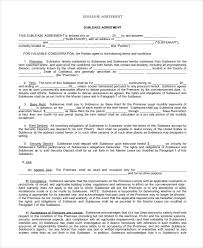 sublease contract template sublease contract 7 free word pdf documents download free