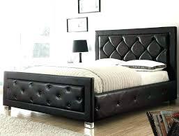 Grey Tufted Bed Frame King Size Black Padded Platform Cal Headboard ...