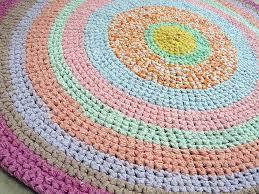handmade rag rug vintage hand crochet rag rug by rekindledpassions