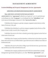 Management Contract Template Free 223447500006 Business Manager