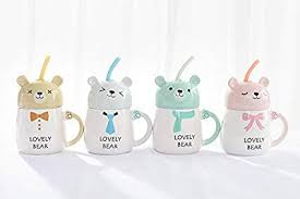 Buy Nyrwana Cute Bear Siphon Mug <b>Creative Cartoon Coffee</b> Tea ...