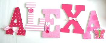 custom wood letters letter wall decor for worthy baby girl wooden pink erfly block name w