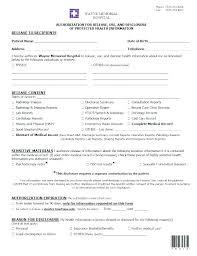 Medical Forms Templates Medical Release Form Template Vet Health Risk Assessment